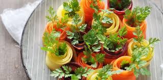 le cerfeuil en cuisine rouleaux de carotte au cerfeuil facile et pas cher recette sur