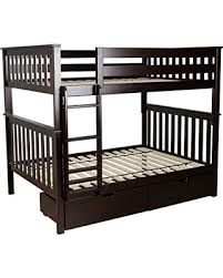 Solid Wood Bunk Beds With Storage Deal Alert Max Solid Wood Bunk Bed With