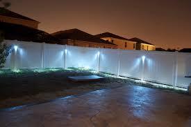 Solar Powered Fence Lights - patio lights on fence style pixelmari com