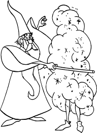 merlin magic coloring wecoloringpage