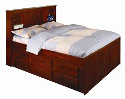 discovery world furniture merlot full captain bed with media chest