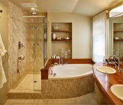orange county corner tub shower bathroom traditional with square