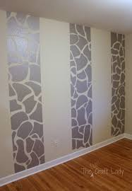 Wallpaper Removable Twins Room Phase 1 Giraffe Striped Feature Wall The Crazy Craft