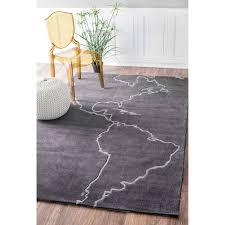 nuloom handmade grey map rug 5 u0027 x 8 u0027 free shipping today