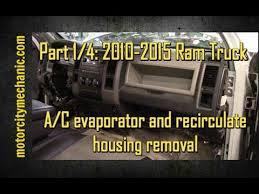 dodge ram air conditioning problems part 1 4 2010 2015 ram trucks a c evaporator and recirculate