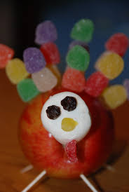 thanksgiving food crafts for kids chickenville gumdrop apple turkeys happy thanksgiving