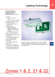 compact sheet steel emergency light fitting series 6118 series
