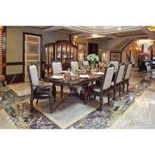 michael amini victoria palace 7pc dining table set by aico for