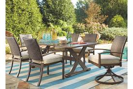 patio furniture 7 dining set moresdale 7 outdoor rectangular dining set