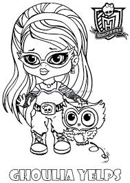 monster coloring pages baby kids coloring