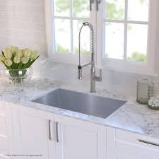 kitchen sink and faucet combo kraus khu10032165041ss 32 inch undermount kitchen sink and