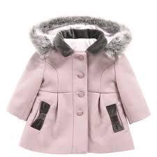 tartine et chocolat light pink woollen cloth coat pink
