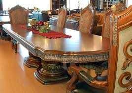hand crafted kitchen tables awesome luxury hand carved brown oak wood dining sets with flower