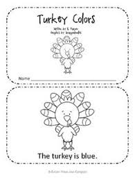 free thanksgiving emergent reader adorable literacy center for