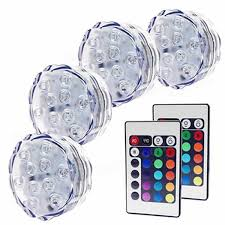 10 leds waterproof led light submersible with remote sale