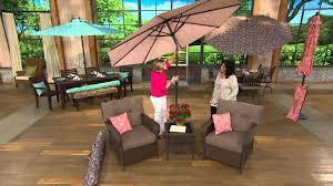 atleisure 9 u0027 crank u0026 tilt floral market umbrella w 2 pillow