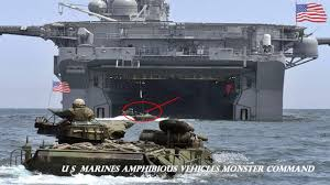 amphibious vehicle military u s marines amphibious vehicles monster command youtube