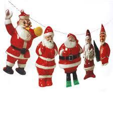 amazon com handmade vintage christmas santa claus garland