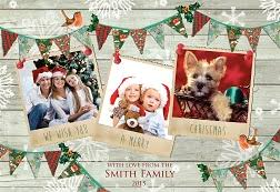 horizontal photo upload christmas cards 123print uk