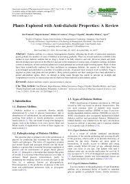 Sho Nr Kur plants explored with anti diabetic pdf available