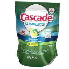 Consumer Reports Dishwasher Detergent Amazon Com Cascade Complete Pacs Lemon Burst Scent Dishwasher