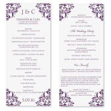 wedding program ideas templates wedding program template microsoft word business template