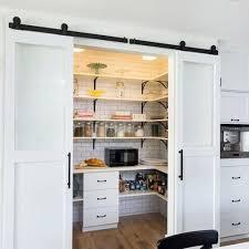 Sliding Closet Doors Barn Style by The Polished Pebble Barn Doors In The Kitchen Diy Sliding Barn