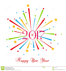 happy new year fireworks 2017 background design stock