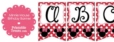 printable minnie mouse bunting banner letters n z u2014 printable