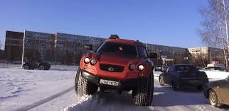 amphibious truck the viking 29031 is an amphibious monster truck from russia video