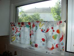 Kitchen Curtains With Fruit Design by White Cafe Curtains Gladys Tier Curtain Target Curtain Panels