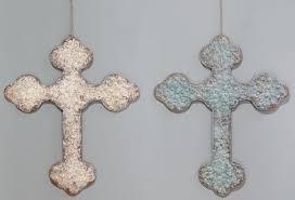 decorative wall crosses tin cross ornaments antique farmhouse