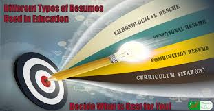 Functional Resume Vs Chronological Different Types Of Resumes Used In Education Decide What Is Best