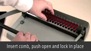 manual comb binding how it works youtube