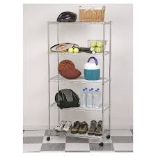 Bathroom Wire Shelving Seville Classics 5 Shelf Home Style Ultrazinc Steel Wire Shelving