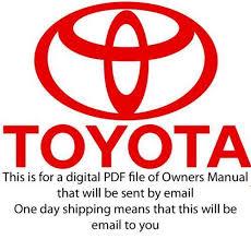 1997 toyota tacoma owners manual toyota tacoma repair manual ebay