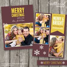 christmas card template cc14 card templates creative market