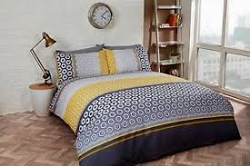Geometric Duvet Cover Geometric Duvet Quilt Cover Bedding Set Single Double King Grey