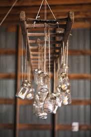 Chandelier Decor Diy Ladder Jar Chandelier Decor Ideas Rustic Vintage Dma