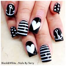 black and white gel nails black and white gel nails by terry get