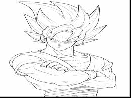 magnificent goku coloring pages dokardokarz net