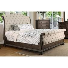 Tufted Sleigh Bed King Sleigh Bed For Less Overstock