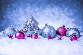 blue background with pink ornaments gallery