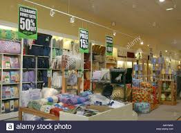bed linen for sale in department store stock photo royalty free
