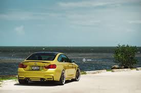 stanced bmw m4 austin yellow bmw f82 m3 adv06 track function cs series wheels