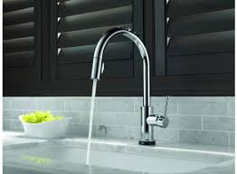 single handle pull down kitchen faucet the fixture gallery delta trinsic single handle pull down kitchen
