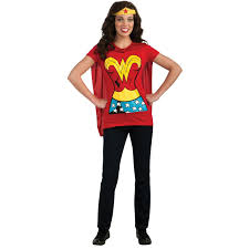 Wonder Woman Costume Buy Wonder Woman T Shirt Costume Kit