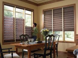 Dining Room Window Coverings by Awesome Decorating With Blinds Pictures Home Design Ideas