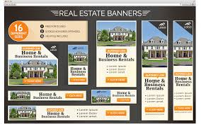 real estate banner design template psd
