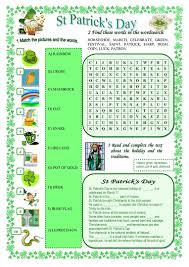 st patrick u0027s day worksheet free esl printable worksheets made by